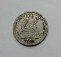 1891-S SEATED LIBERTY DIME - SAN FRANCISCO MINTAGE