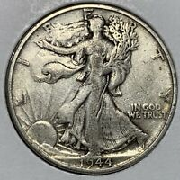 EF CONDITION 1944-S LIBERTY WALKING SILVER HALF DOLLAR OLD US COIN