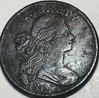 1805 DRAPED BUST LARGE CENT VF