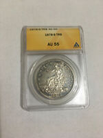 1878 S TRADE DOLLAR AU55, ANACS CERTIFIED
