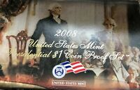2008-S PROOF PRESIDENTIAL DOLLAR COIN SET IN OGP WITH COA