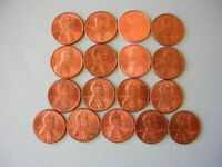 17X US 1 CENT COIN ALL LUSTROUS C1979-1996