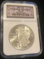 1885 MORGAN SILVER DOLLAR MINT STATE 64 NGC FITZGERALD COLLECTION  WHITE COIN
