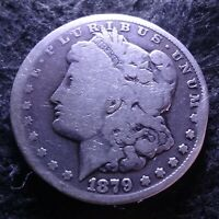 1879-CC MORGAN SILVER DOLLAR -  GOOD G DETAILS FROM THE CARSON CITY MINT