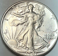1941-S WALKING LIBERTY HALF DOLLAR - CHOICE BU