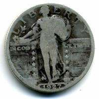 1927 P STANDING LIBERTY QUARTER DOLLAR 1927P 90 SILVER 25 CENT COIN US 101531