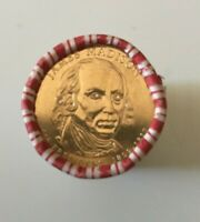 2007 JAMES MADISON PRESIDENTIAL $1 ONE DOLLAR COINS $25 ROLL - US MINT SEALED