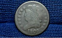 1809 HALF CENTC-4CIRCLE IN 0 VARIETY  VG DETAILS