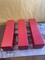 3 RED CARDBOARD COIN SLAB STORAGE BOXES FOR ALL SLABS PCGS, NGC & ICG ETC.