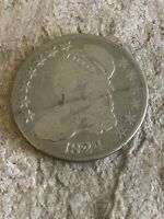 1824 CAPPED BUST SILVER HALF DOLLAR,