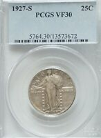1927-S STANDING LIBERTY QUARTER PCGS VF30  LOW MINTAGE  PJ616