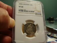 1840 LIBERTY SEATED QUARTER _ NGC VF 20 _ NO PROBLEMS HERE