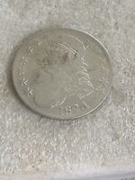 1824/4 CAPPED BUST HALF DOLLAR 50C -  DETAILS -  VARIETY COIN