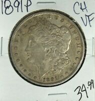 1891-P MORGAN SILVER DOLLAR  CH/VF  COIN