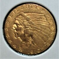 1910 GOLD INDIAN HEAD QUARTER EAGLE  $2.50 PIECE
