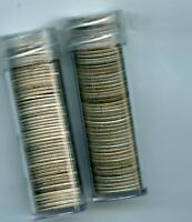 TWO ROLLS OF SILVER MERCURY DIMES NEVER SEARCHED LOTS OF OLD