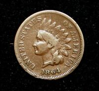 KEY DATE 1864 L INDIAN HEAD PENNY CENT