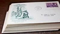 50 FDC ARTMASTER LOT SET COLLECTION 1948 55 MOUNT RUSHMORE C