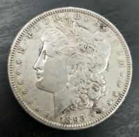 1893 P $1 MORGAN DOLLAR  FINE EXTRA FINE  EF TO AU ABOUT UNCIRCULATED