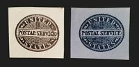 US UO14 UO17 OFFICIAL POSTAL SERVICE CUT SQUARES.