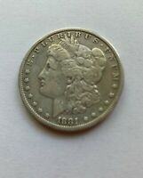 UNITED STATES OF AMERICA 1881-O MORGAN SILVER ONE DOLLAR- AMAZING CONDITION