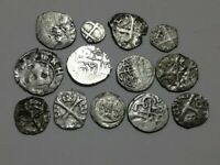 GREAT RARE SILVER LOT XIII XVII CENTURY MEDIEVAL COINS UNCLE
