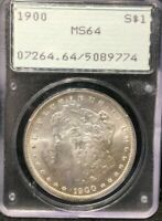 PCGS OLD GREEN LABEL 1900-P MINT STATE 64 MORGAN DOLLAR