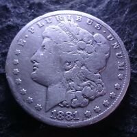1881-CC MORGAN SILVER DOLLAR - CHOICE VG DETAILS KEY  FROM THE CARSON CITY MINT