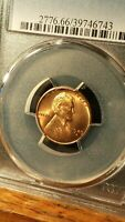 1949-S LINCOLN CENT PCGS MINT STATE 66RD LIGHTLY TONED SAN FRANCISCO ISSUE. 743
