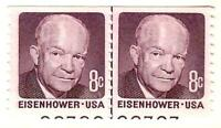 US 1971 SCOTT 1402 LINE PAIR WITH PLATE NUMBERS MINT NH