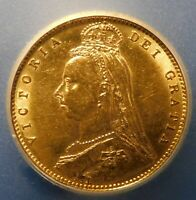 1890 1/2 BRITISH SOVEREIGN ICG AU 58/ NICE