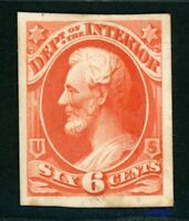 US SCOTT  O18P4 OFFICIAL INTERIOR DEPARTMENT CARD PROOF   VF