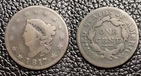 1817 PHILADELPHIA MINT COPPER CORONET HEAD LARGE CENT