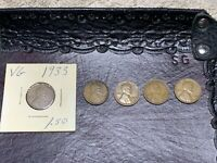 1933 X2, 1929, 1928-D, 1929-D - X5 LINCOLN WHEAT ONE CENT PENNY COIN LOT