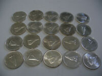 LOT OF 20 1967  CANADA  HALF  DOLLAR  SILVER  COINS  67 CENT  PIECE  WOLF    A