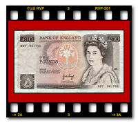 GREAT BRITAIN P 379A TEN 10 POUNDS SIGN.  J. B. PAGE 1975 ND