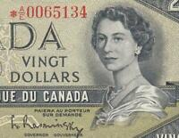 1954 BANK OF CANADA QEII $20   STAR NOTE