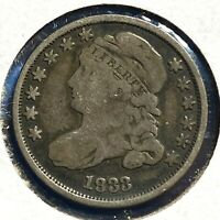 1833 10C CAPPED BUST DIME 57468