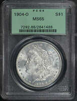 1904-O MORGAN DOLLAR PCGS MINT STATE 65 OLD GREEN HOLDER