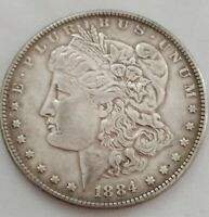 EARLY 1884 MORGAN SILVER DOLLAR - 90 SILVER  US COIN