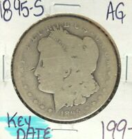 1895-S MORGAN SILVER DOLLAR  AG  KEY DATE  COIN