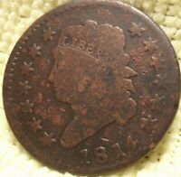 1814 S-294 COPPER CLASSIC HEAD LARGE CENT - TOUGH DATE, HIGH GRADE  COIN