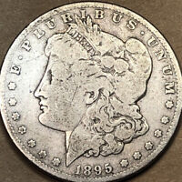 1895 S MORGAN SILVER DOLLAR - BETTER DATE - VG
