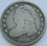 1835 CAPPED BUST SILVER DIME IN A SAFLIP - VG- GOOD