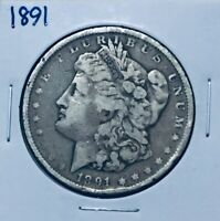 1891-P MORGAN DOLLAR SILVER COIN BETTER DATE OLD US  COIN