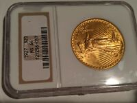 1927 ST GAUDENS $20 GOLD COIN NGC MS 64 NICE LUSTER & DETAIL