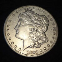 1890-CC MORGAN SILVER DOLLAR - CHOICE VF DETAILS FROM THE CARSON CITY MINT