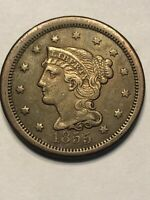 1855 US LARGE CENT VERY NICE