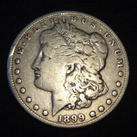1899 P MORGAN SILVER DOLLAR - CHOICE VG DETAILS KEY FROM THE PHILADELPHIA MINT