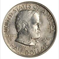 1922 NO STAR GRANT COMMEMORATIVE HALF DOLLAR NGC MINT STATE 65 SHARP AND LUSTROUS